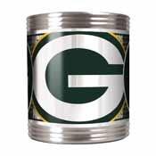 Green Bay Packers Stainless Steel Can Holder with Metallic Graphics