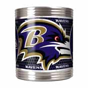 Baltimore Ravens Stainless Steel Can Holder with Metallic Graphics
