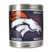 Denver Broncos Stainless Steel Can Holder with Metallic Graphics