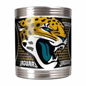 Jacksonville Jaguars Stainless Steel Can Holder with Metallic Graphics
