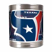 Houston Texans Stainless Steel Can Holder with Metallic Graphics