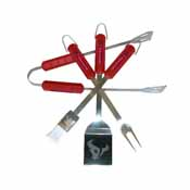 Houston Texans 4 Piece Bbq Set