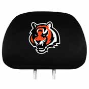Cincinnati Bengals Headrest Covers Set Of 2