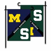 Michigan - Michigan St. 2-Sided Garden Flag - Rivalry House Divided