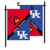 Kentucky - Louisville 2-Sided Garden Flag - Rivalry House Divided