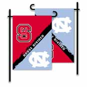 N. Carolina - Nc State 2-Sided Garden Flag - Rivalry House Divided