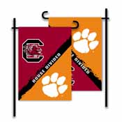 Clemson - S. Carolina 2-Sided Garden Flag - Rivalry House Divided