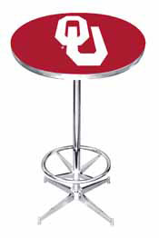 University of Oklahoma Logo Pub Table