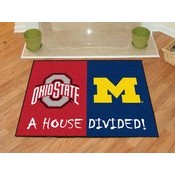 Ohio State - Michigan House Divided Rugs 33.75x42.5