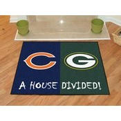 NFL - Chicago Bears/Green Bay Packers House Divided Rugs 33.75x42.5