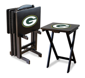 Green Bay Packers 4 Tv Trays With Stand