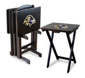 Baltimore Ravens 4 Tv Trays With Stand