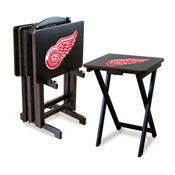 Detroit Redwings Tv Trays W/Stand