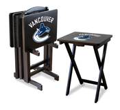 Vancouver Canucks Tv Trays W/Stand