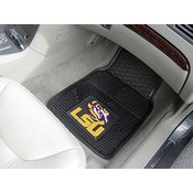 Louisiana State Heavy Duty 2-Piece Vinyl Car Mats 17x27