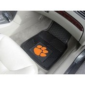 Clemson Heavy Duty 2-Piece Vinyl Car Mats 17x27