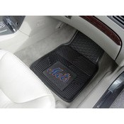 MLB - New York Mets Heavy Duty 2-Piece Vinyl Car Mats 17x27
