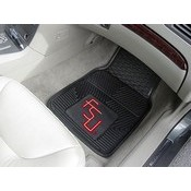 Florida State Heavy Duty 2-Piece Vinyl Car Mats 17x27
