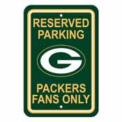 Green Bay Packers Plastic Parking Sign - Reserved Parking