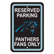 Carolina Panthers Plastic Parking Sign - Reserved Parking
