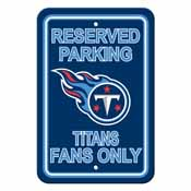 Tennessee Titans Plastic Parking Sign - Reserved Parking