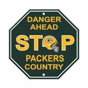 Green Bay Packers Plastic Stop Sign