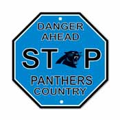 Carolina Panthers Plastic Stop Sign