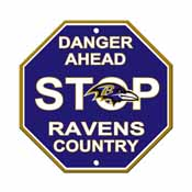 Baltimore Ravens Plastic Stop Sign