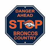 Denver Broncos Plastic Stop Sign