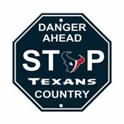 Houston Texans Plastic Stop Sign