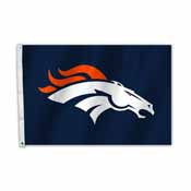 Denver Broncos 2 Ft. X 3 Ft. Flag W/Grommetts
