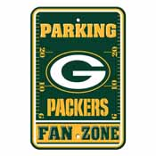 Green Bay Packers Plastic Parking Sign - Fan Zone
