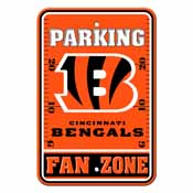 Cincinnati Bengals Plastic Parking Sign - Fan Zone