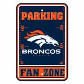 Denver Broncos Plastic Parking Sign - Fan Zone