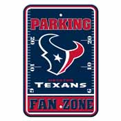 Houston Texans Plastic Parking Sign - Fan Zone