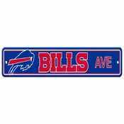 Buffalo Bills Plastic Street Sign