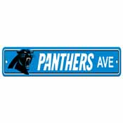 Carolina Panthers Plastic Street Sign