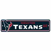 Houston Texans Plastic Street Sign