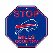 Buffalo Bills Plastic Stop Sign