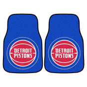 NBA - Detroit Pistons 2-pc Carpeted Car Mats 17x27