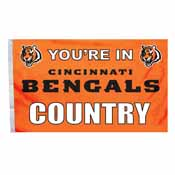 Cincinnati Bengals 3 Ft. X 5 Ft. Flag W/Grommetts
