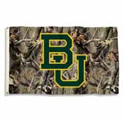 Baylor Bears 3 Ft. X 5 Ft. Flag W/Grommets - Realtree Camo Background