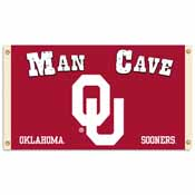 Oklahoma Sooners Man Cave 3 Ft. X 5 Ft. Flag W/ 4 Grommets