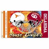 Oklahoma - Texas 3 Ft. X 5 Ft. Flag W/Grommets - Helmet House Divided