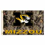 Missouri Tigers 3 Ft. X 5 Ft. Flag W/Grommets - Realtree Camo Background