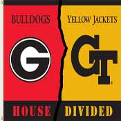 Georgia - Ga. Tech 3 Ft. X 5 Ft. Flag W/Grommets - Rivalry House Divided