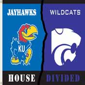 Kansas - Kansas St. 3 Ft. X 5 Ft. Flag W/Grommets - Rivalry House Divided
