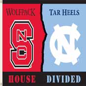 N. Carolina - Nc State 3 Ft. X 5 Ft. Flag W/Grommets - Rivalry House Divided