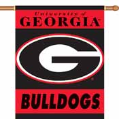 Georgia Bulldogs 2-Sided 28 Inch x 40 Inch Banner W/ Pole Sleeve