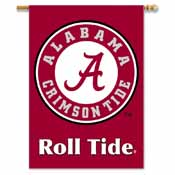 Alabama Crimson Tide 2-Sided 28 Inch x 40 Inch Banner W/ Pole Sleeve